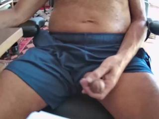 A Dad bored & Jerking for your and my own enjoyment.  #420 #joi